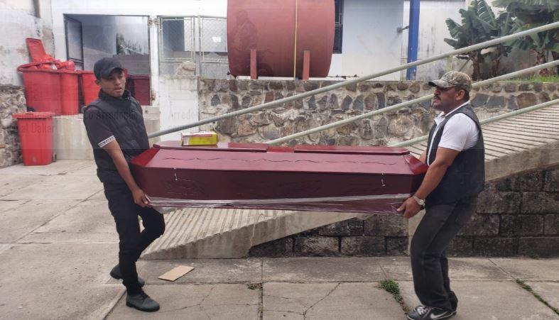 El cuerpo de José Rodolfo Gómez López, de 36 años, fue trasladado a la morge del Instituto Nacional de Ciencias Forenses -INACIF-. (Foto: Oriente News)