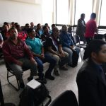 El juicio contra los 23 agentes de la PNC quedó pospuesto para el próximo 23 de marzo debido a la ausencia del abogado defensor. (Foto: CRN)