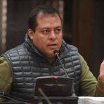 El exdiputado Julio Juárez, vinculado a la muerte de dos periodistas en Mazatenango, fue trasladado al Hospital San Juan de Dios luego de ingerir una cantidad considerable de pastillas en un intento de suicidió. (Foto: Publinews)