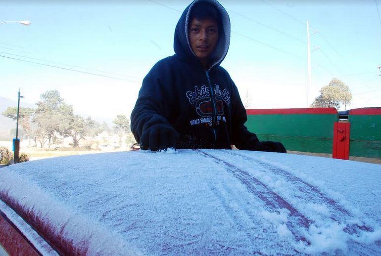 Una nueva helada afectó este lunes a tres departamentos de occidente debido al cambio de temperatura en el clima. (Foto: Carlos Ventura)