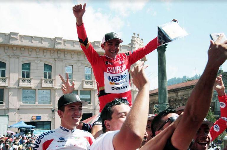 El español Oscar Sevilla ganó la última etapa reina que concluyó en Quetzaltenango en 2014. (Foto: Carlos Ventura)