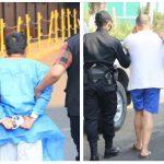 Los dos supuestos asaltabancos fueron detenidos en dos hospitales por la PNC. (Foto: PNC)