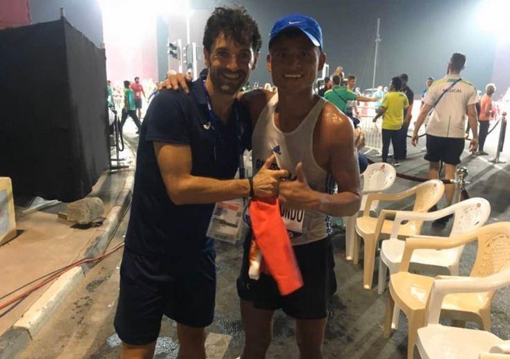 """El medallista olímpico Érick Barrondo vive y entrena en España junto a su entrenador, Francisco """"Paquillo"""" Fernández, como parte de su preparación para los Juegos Olímpicos. (Foto: Twitter)"""