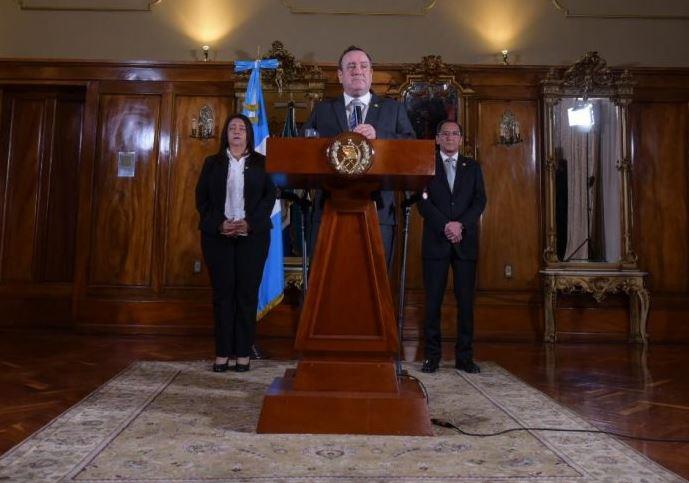 El Presidente Alejandro Giammattei decretó Estado de Prevención debido al Coronavirus. (Foto: AGN)