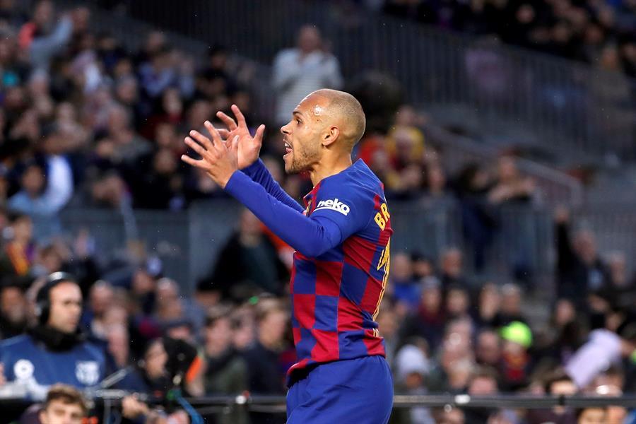 El danés Martin Braithwaite dijo que desea ser el goleador del FC Barcelona. (Foto: EFE)