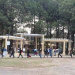 Los inconformes protestaron para que los migrantes sean trasladados hacia otro lugar por tempor a algún contagio de COVID-19. (Foto: Cortesía)