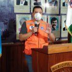 El alcalde Leonel Chacón Barrios durante la conferencia de prensa en la Municipalidad de Cobán. (Foto: Eduardo Sam)