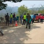 Las autoridades municipales de Granados fumigaron el municipio como medida de prevención de más casos de COVID-19. (Foto: Captura de video )