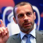 El esloveno Alekxander Ceferin, presidente de la UEFA, habló de la postura del organismo del futbol europeo respecto de la situación por COVID-19. (Foto: EFE)