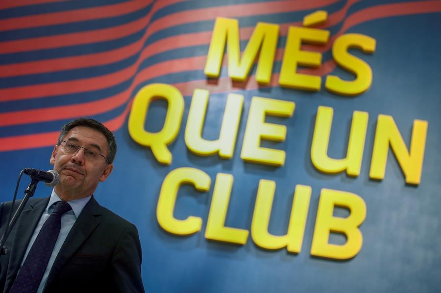 José María Bartomeu recibió este jueves la renuncia de seis altos directivos del FC Barcelona. (Foto: EFE)