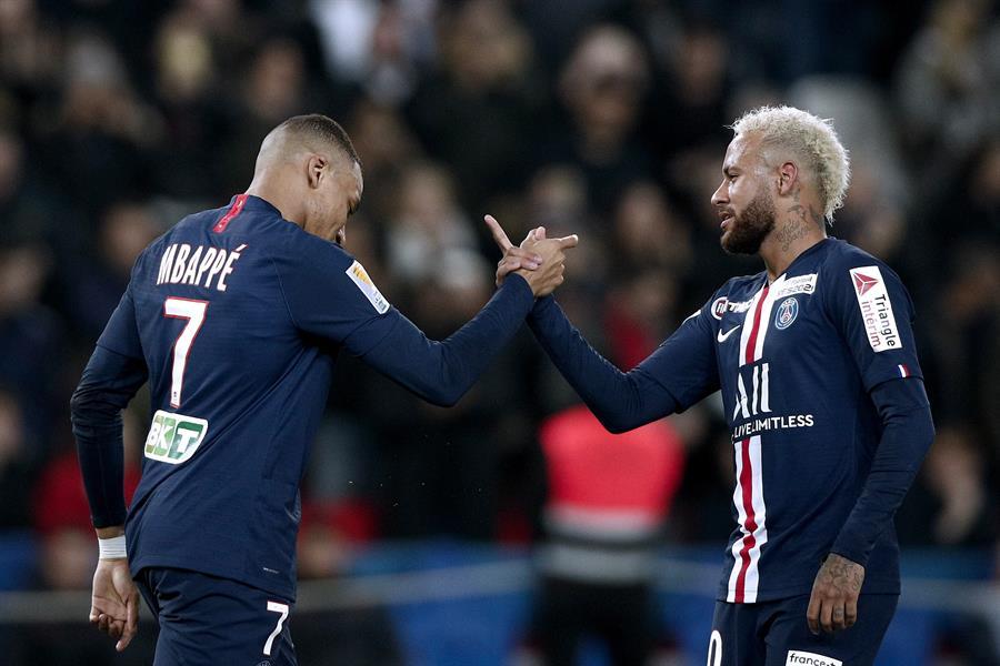 El PSG fue declarado campeón luego de la cancelación del campeonato de fútbol de Francia. (Foto: EFE)