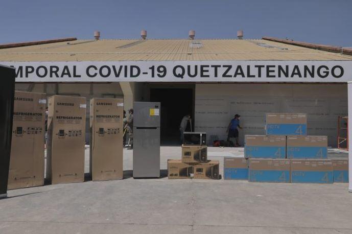 El Hospital de Quetzaltenango para pacientes con COVID-19 comenzó a funcionar este miércoles. (Foto: AGN)