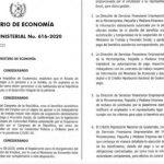Este es el acuerdo ministerial 616-2020 para el otorgamiento del beneficio económico del Fondo de Protección del Empleo. (Foto: AGN)