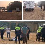 Un agente de la PMT murió en el lugar, en tanto que los otros dos elementos de la PNC, fallecieron a su ingreso al Hospital Regional de Cobán. (Foto: Eduardo Sam)