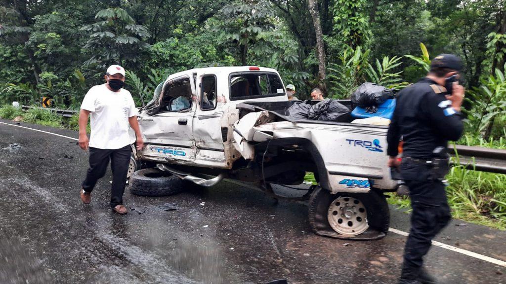 Este es el estado en que quedó uno de los vehiculos involucrados en el accidente. (Foto: Cristian Soto)