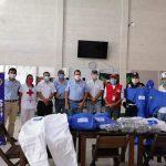 Los cuerpos de socorro recibieron la donación del equipo de parte del Club Rotario Coatepeque-Colomba. (Foto: Bomberos Departamentales de Colomba)