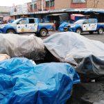 El Mercado La Democracia en la zona 3 de Quetzaltenango, fue cerrado luego de que un vendedor diera positivo por COVID-19. (Foto: Carlos Ventura))