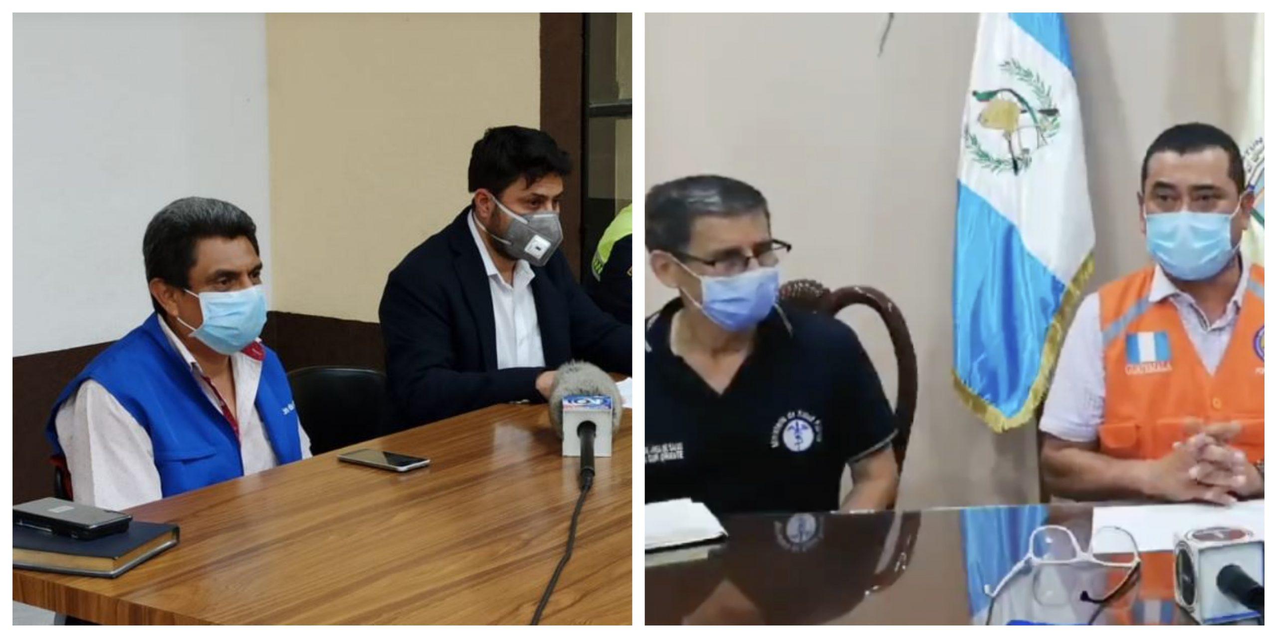 Las autoridades de salud de los departamentos de Jalapa y del municipio de Potpún, en Petén, brindaron conferencias de prensa para anunciar sus casos de COVID-19. (Foto: Oriente News y Twitter)