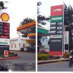 Varias gasolineras de Quetzaltenango reportaron aumento de Q1 en el precio del diésel y gasolina este lunes. (Foto: Carlos Ventura)