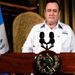 El presidente Alejandro Giammattei durante su mensaje presidencial de este sábado 2 de mayo. (Foto: AGN)