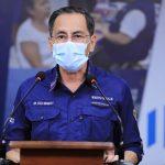 El Ministro Hugo Monroy brindó este miércoles las nuevas cifras del COVID-19 en Guatemala. (Foto: SCSP)
