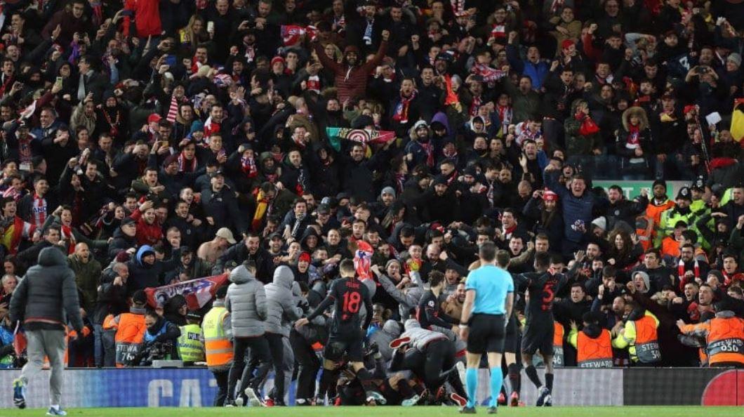 El estudio indica que 41 muertes fueron provocadas debido al contagio masivo en el juego entre el Liverpool y el Atlético de Madrid en Anfield, el pasado 11 de marzo. (Foto: Twitter)