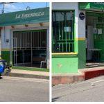 Dos panaderías fueron blanco de un ataque armado esta mañana en la zona 4 de Cobán. Una mujer resultó herida. (Foto: Eduardo Sam)