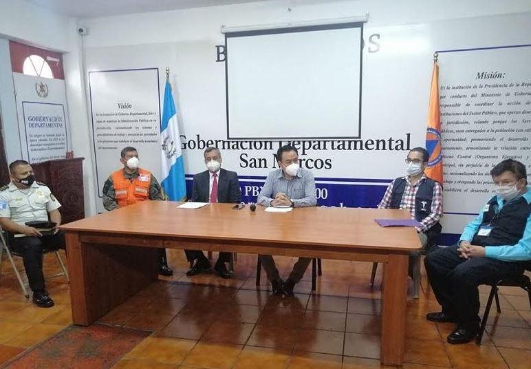 Las autoridades de Salud del departamento de San Marcos, dieron a conocer los casos de COVID-19. (Foto: Gobernación Departamental de San Marcos)