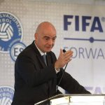El presidente de la FIFA, GIanni Infantino, participa en la segunda edición de la Revista Anual de Derecho del Fútbol. (Foto: Archivo EFE)
