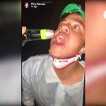 Los videos que se viralizaron en redes sociales muestran imágenes de la fiesta clandestina en una mueblería de Condado Concepción, en carretera a El Salvador. (Foto: Captura de pantalla)