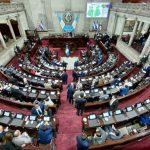 Los diputados de Congreso de la República aprobaron de urgencia nacional el estado de sitio en Nahualá, Santa Lucía Utatlán y Santa María Ixtahuacán. (Foto: Congreso de la República)