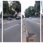 El vehículo derrapó en la Avenida Hincapié debido al exceso de velocidad con que se conducía. (Foto: Captura de video)