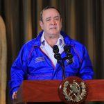 El presidente Alejandro Giammattei habla durante el mensaje presidencial hacia la población este domingo 7 de junio. (Foto: SCSP)