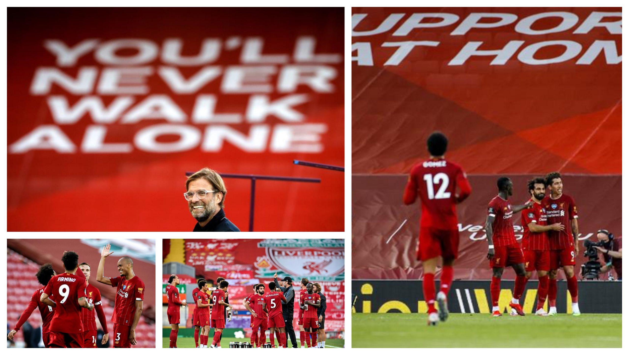 El Liverpool goleó 4-0 ayer al Crystal Palace y se coronó campeón este jueves con el triunfo del Chelsea sobre el Mánchester City. (Foto: EFE)