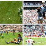 """El 22 de junio de 1986 Diego Armando Maradona anotó para Argentina el gol de """"La Mano de Dios"""" y """"El Gol del Siglo"""", en los cuartos de final de la Copa del Mundo de México, contra Inglaterra. (Foto: Twitter))"""