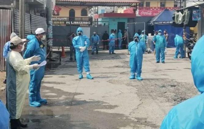 Las autoridades de salud decidieron levantar el cordón sanitario en la colonia Monte Carmelo II, aldea Lo de Mejía, San Juan Sacatepéquez. (Foto: Archivo Radio TGW)