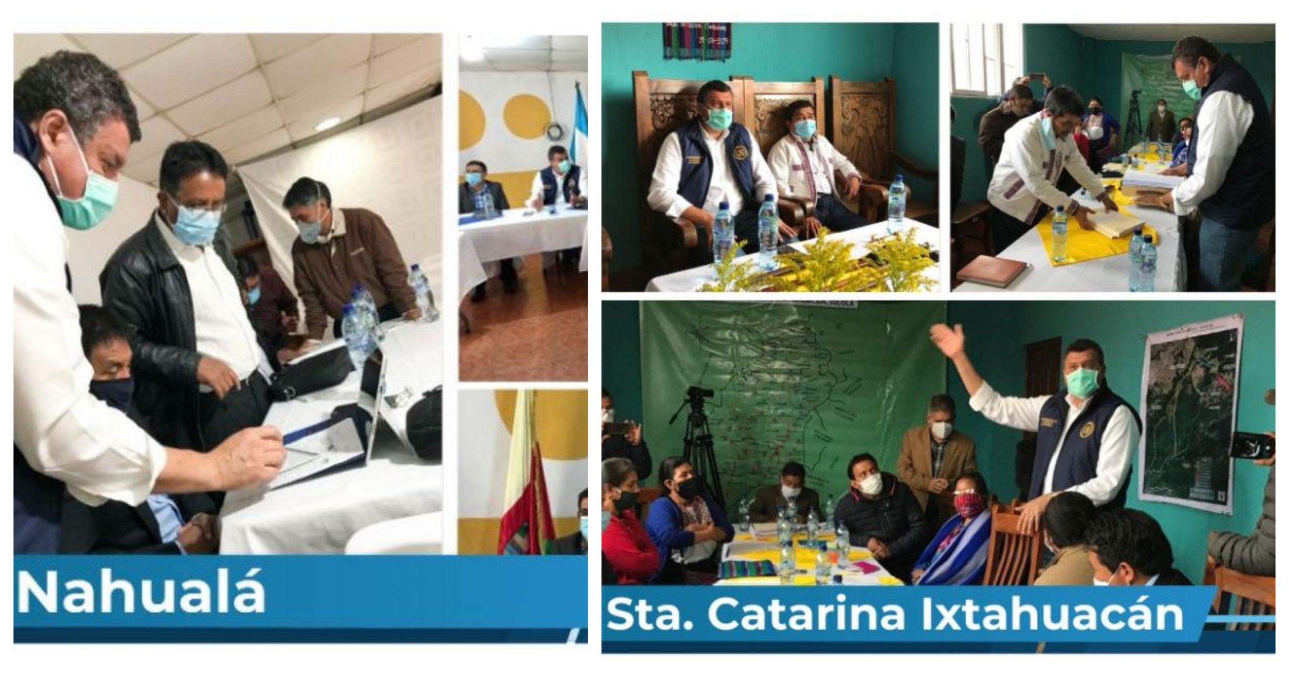 El vicepresidente Guillermo Castillo se reunió con las autoridades municipales de Nahualá y Santa María Ixtahuacán. (Foto: Twitter)