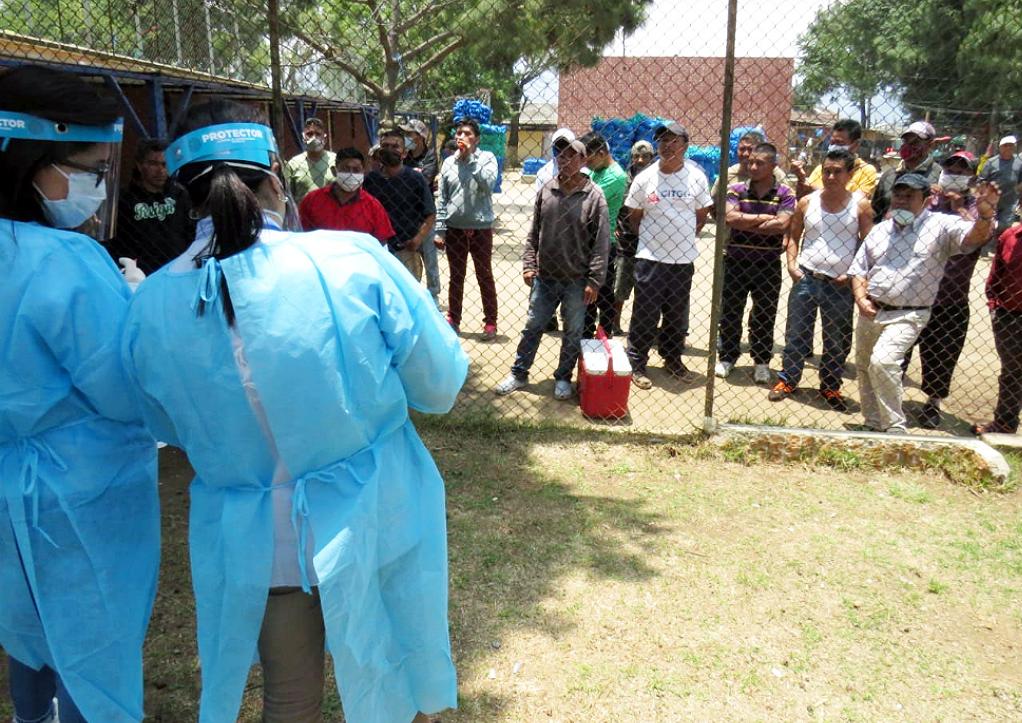 Las autoridades de salud reportaron dos casos positivos de COVID-19 en reos de la Granja Penal Cantel, en Quetzaltenango. (Foto: Carlos Ventura)