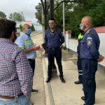 Los representantes del transporte de Cobán se reunieron con las autoridades municipales, para preparar el regreso del servicio. (Foto: Eduardo Sam)