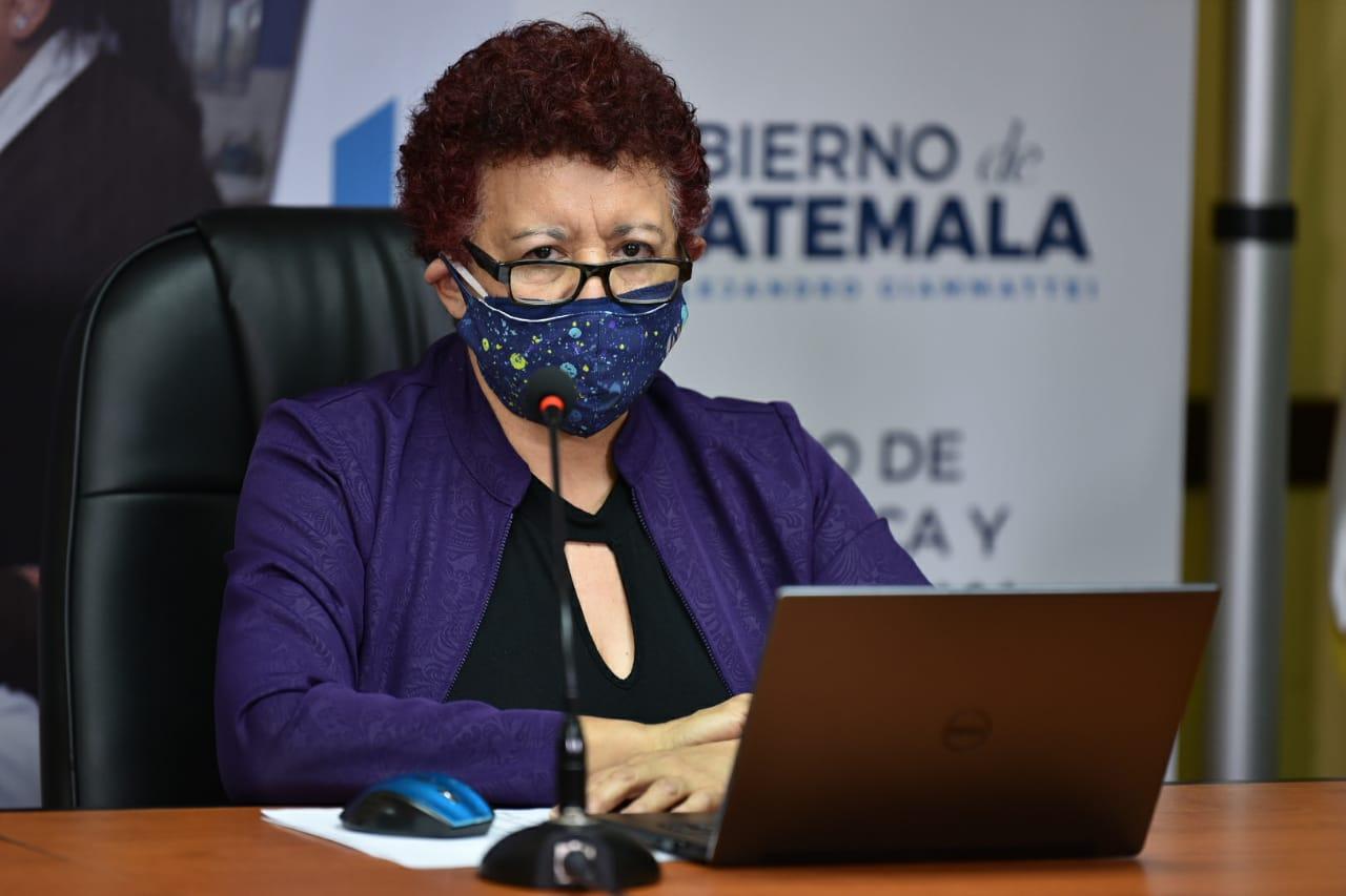 La Ministra de Salud, Amelia Flores, informó que el Gobierno de Guatemala comprará 150 mil pruebas para detectar COVID-19. (Foto: AGN)