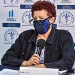 La Ministra de Salud, Amelia Flores, presentó el nuevo sistema de conteo de datos del COVID-19 en Guatemala. (Foto: MSPAS)