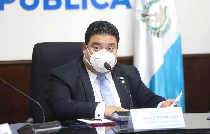 El diputado Allan Rodríguez, presidente del Congreso de la República, fue diagnosticado por COVID-19. (Foto: TGW)