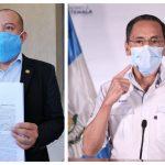 El parlamentario Aldo Dávila, presentó su denuncia contra el exministro de Salud, Hugo Monroy por tres delitos. (Foto: Twitter)