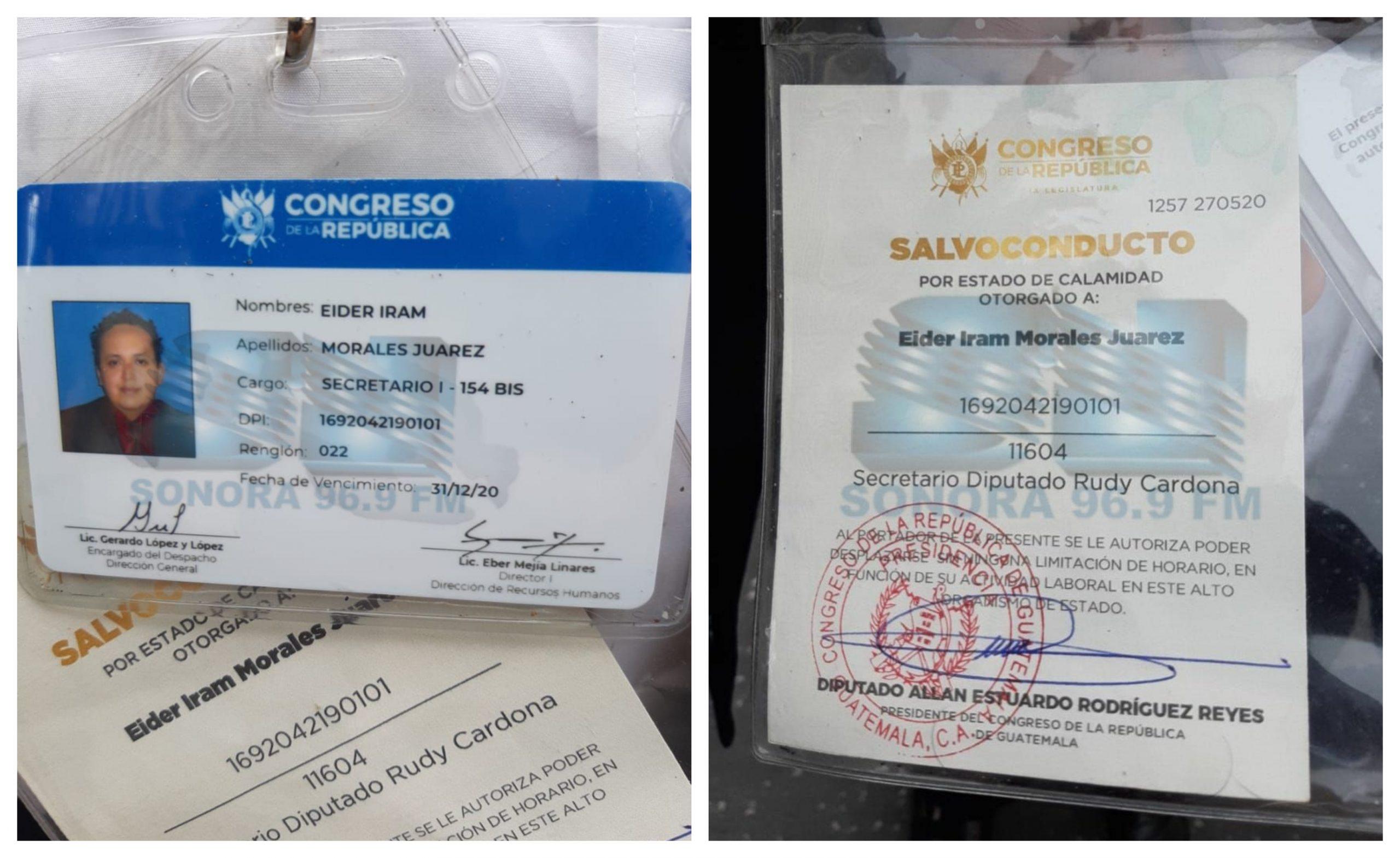 Eider Iram Morales Juárez, secretario del diputado Rudy González Cardona, fue capturado por cobrar comisiones ilegales. (Foto: Twitter)
