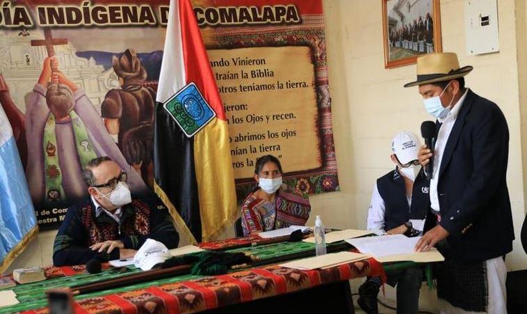 El presidente Alejandro Giammattei fue declarado non grato por entidades indígenas del occidente del país. (Foto: Twitter)