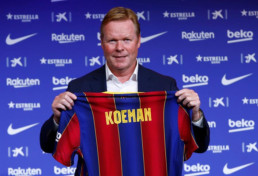 El técnico holandés Ronald Koeman fue presentado este miércoles como nuevo técnico del FC Barcelona. (Foto: EFE)
