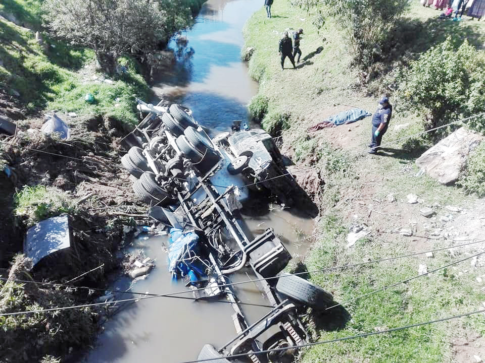 Fatal accidente en Quetzaltenango