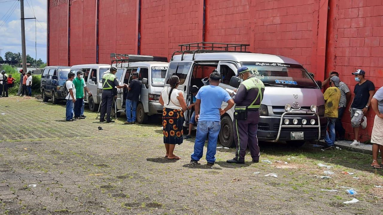 Los prestatarios de servicio urbano siguen sin trabajar en Mazatenango