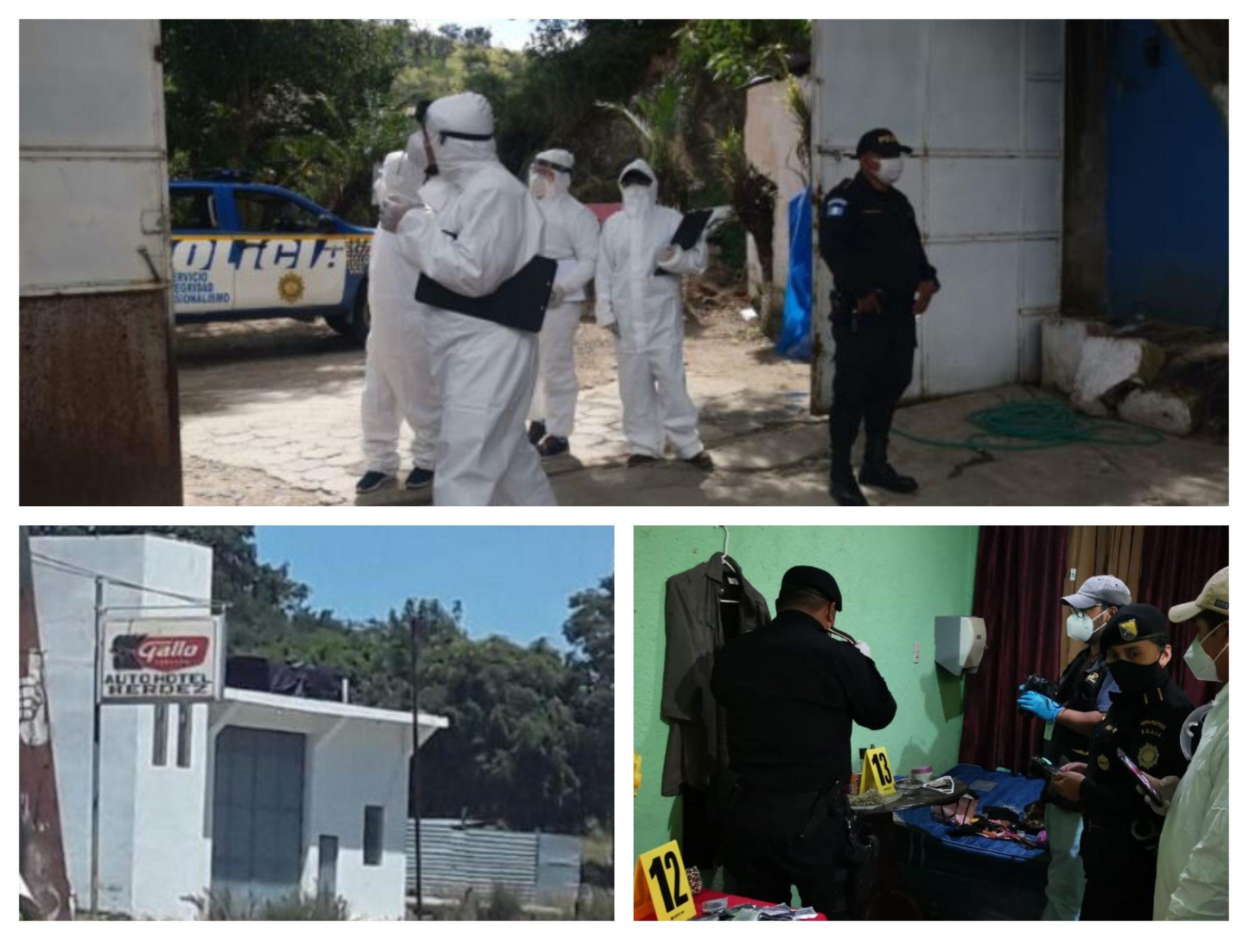 Las autoridades clausuraron el auto hotel Herdez, ubicado en el kilómetro 260, en Huehuetenango, en un operativo que dejó ocho capturados y dos menores rescatados. (Foto: MP)