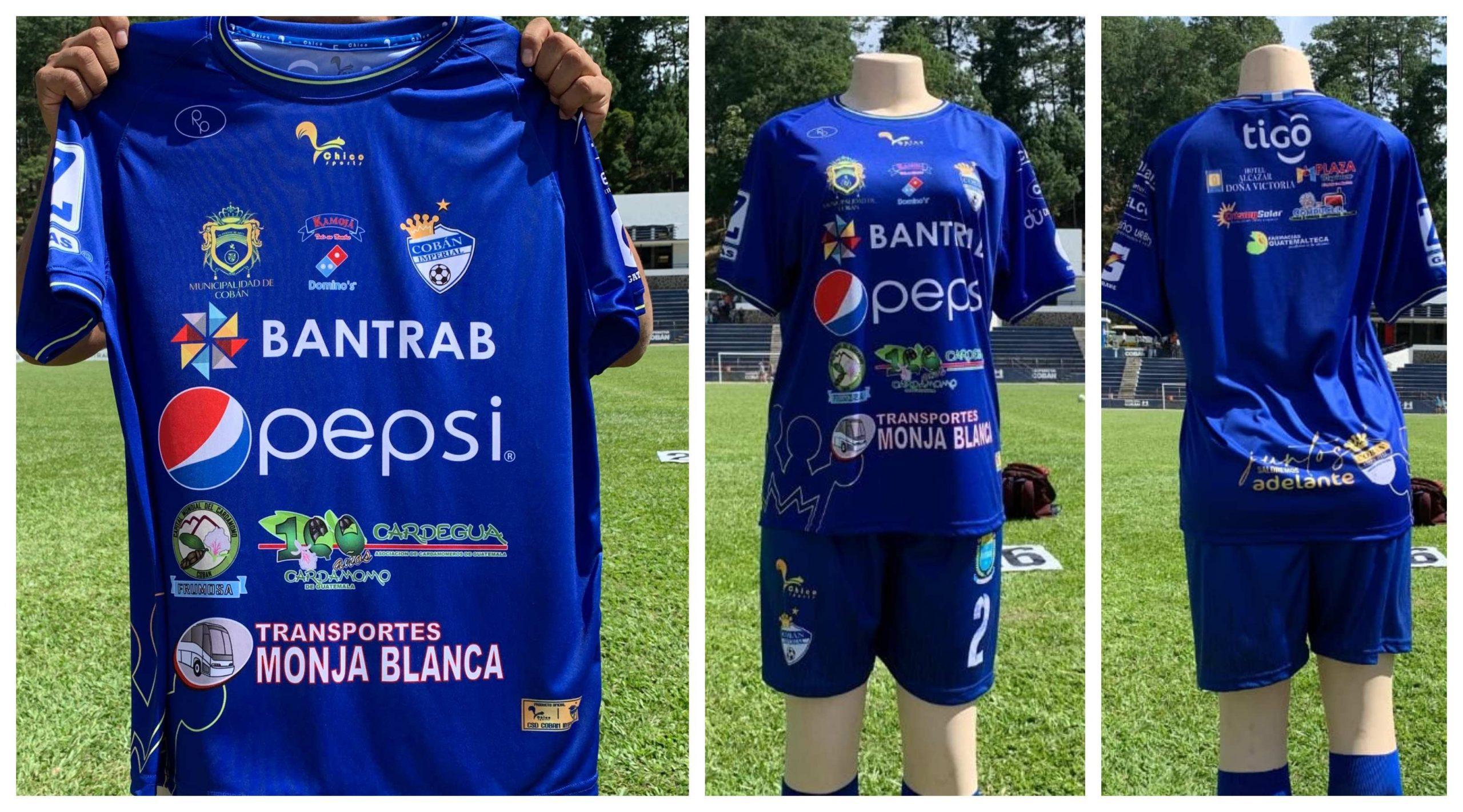 Cobán Imperial estrenará su nueva camisola en el partido este sábado a las 15:30 horas, en el estadio Verapaz, frente al campeón Municipal. (Foto. Eduardo Sam)